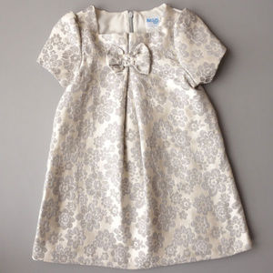 NWT Luli & Me Silver Floral Toddler Party Dress